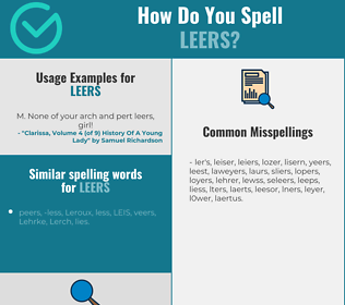 Correct spelling for leers