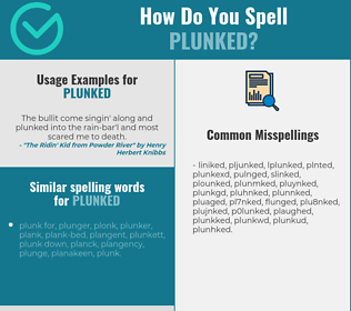 Correct spelling for plunked