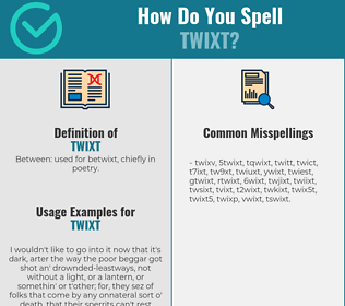 Correct spelling for twixt