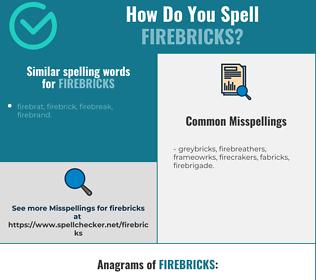 Correct spelling for firebricks