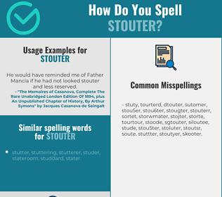 Correct spelling for stouter