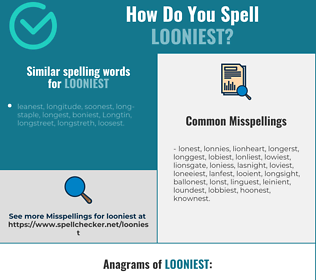 Correct spelling for looniest