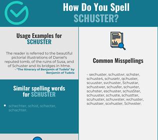 Correct spelling for Schuster