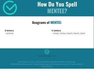 Correct spelling for mentee
