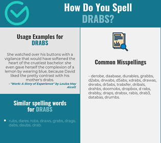 Correct spelling for drabs