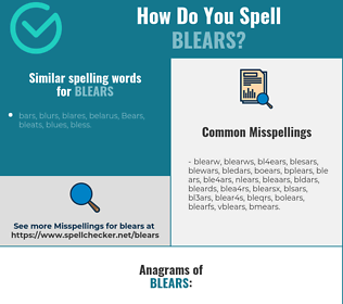 Correct spelling for blears