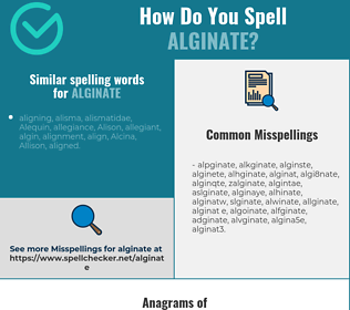 Correct spelling for alginate