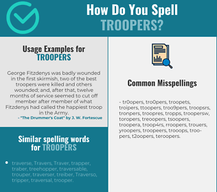 Correct spelling for troopers