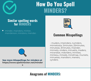 Correct spelling for minders