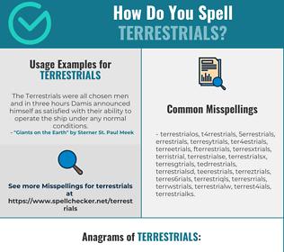 Correct spelling for terrestrials