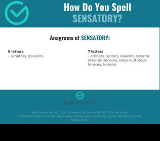 Correct spelling for sensatory