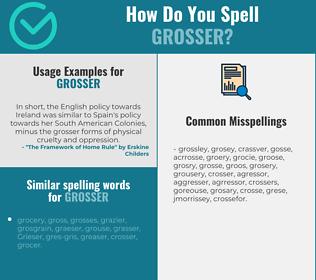 Correct spelling for grosser