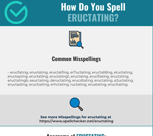Correct spelling for eructating