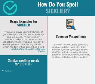 Correct spelling for sicklier