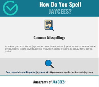 Correct spelling for Jaycees