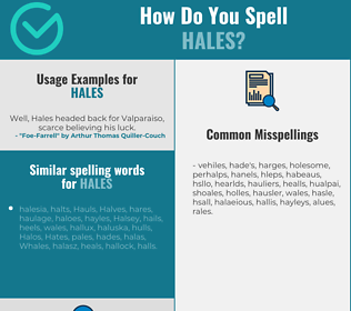 Correct spelling for hales