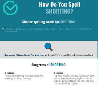 Correct spelling for shorting