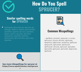 Correct spelling for sprucer