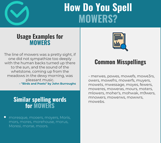 Correct spelling for mowers