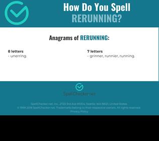 Correct spelling for rerunning