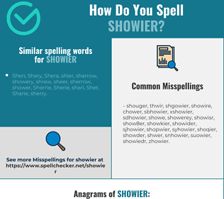 Correct spelling for showier