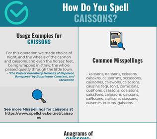 Correct spelling for caissons