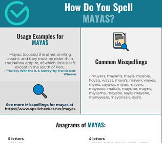 Correct spelling for Mayas