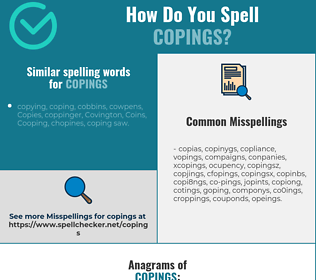 Correct spelling for copings