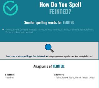 Correct spelling for feinted
