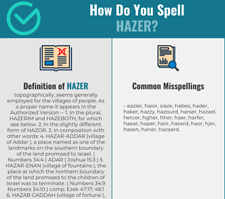 Correct spelling for hazer