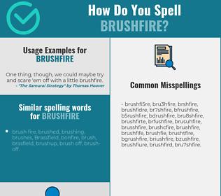Correct spelling for brushfire