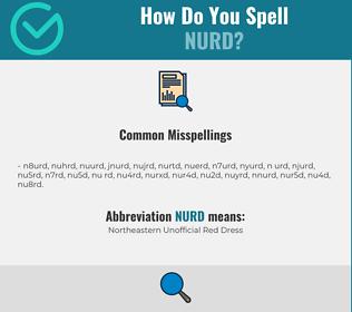 Correct spelling for nurd
