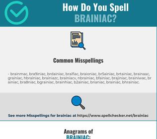 Correct spelling for brainiac