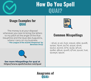 Correct spelling for quai