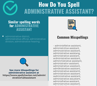 Correct spelling for administrative assistant