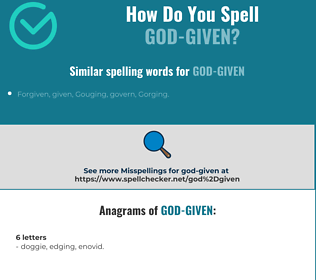 Correct spelling for God-given