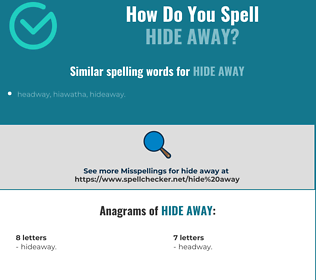 Correct spelling for hide away