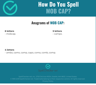 Correct spelling for mob cap