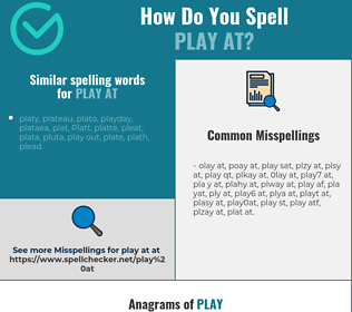 Correct spelling for play at