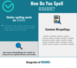 Correct spelling for roadie