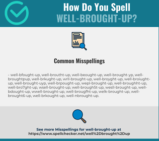 Correct spelling for well-brought-up