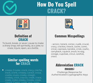 Correct spelling for crack