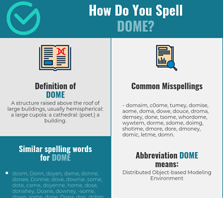 Correct spelling for dome