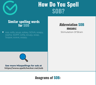 Correct spelling for sob