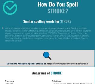 Correct spelling for stroke