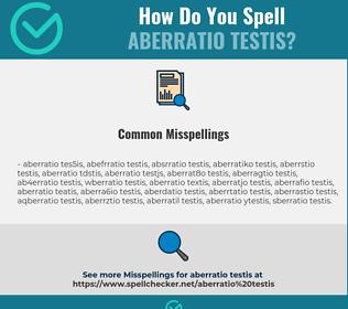 Correct spelling for aberratio testis