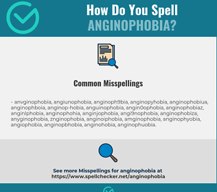 Correct spelling for anginophobia