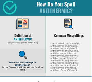 Correct spelling for antithermic