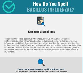 Correct spelling for Bacillus influenzae