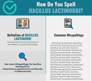 Correct spelling for Bacillus lactimorbi